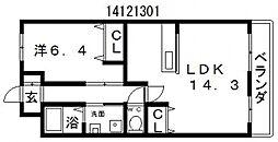 アイビス[3階]の間取り