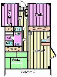 埼玉県さいたま市北区日進町1丁目の賃貸マンションの間取り