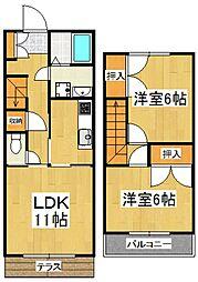 [タウンハウス] 埼玉県所沢市大字上安松 の賃貸【/】の間取り