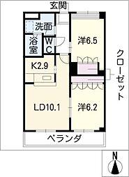 グランシャリオI[2階]の間取り