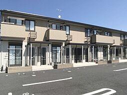 群馬県伊勢崎市市場町の賃貸アパートの外観