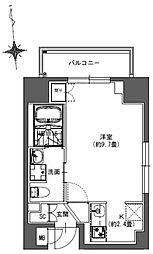 JR総武本線 馬喰町駅 徒歩4分の賃貸マンション 3階ワンルームの間取り