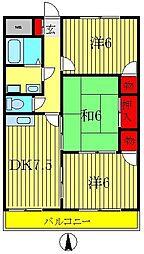 第一いこいマンション[205号室]の間取り