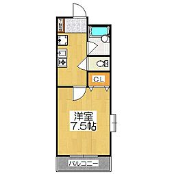 ベルコート96[4階]の間取り