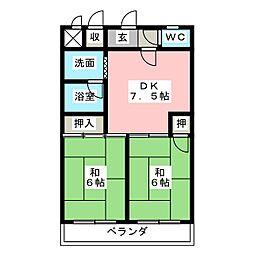 Life in かいめい[1階]の間取り