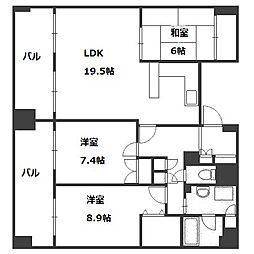 ラフォーレ札幌[4階]の間取り