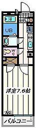 埼玉県越谷市レイクタウン2丁目の賃貸アパートの間取り