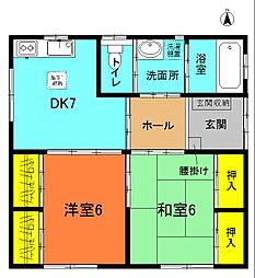 [一戸建] 神奈川県平塚市御殿2丁目 の賃貸【/】の間取り