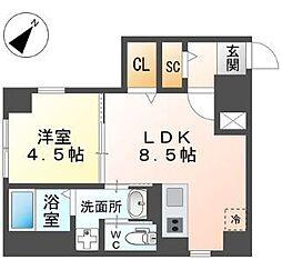 西鉄天神大牟田線 西鉄平尾駅 徒歩4分の賃貸マンション 1階1LDKの間取り