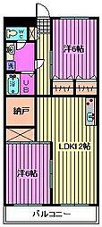 ピース嶋村[1階]の間取り