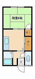すみれ荘[203号室]の間取り