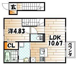 D-room西水町[2階]の間取り