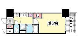 プレサンス三宮ルミネス[8階]の間取り