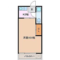 山庄ビル[3C号室]の間取り