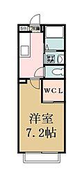 埼玉県草加市瀬崎3丁目の賃貸アパートの間取り