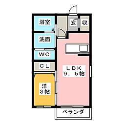 EAST COURT[1階]の間取り