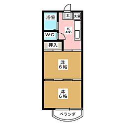 ハイツアンジェ[2階]の間取り