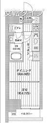 都営新宿線 菊川駅 徒歩11分の賃貸マンション 11階1DKの間取り