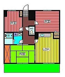 埼玉県川口市飯塚2丁目の賃貸マンションの間取り