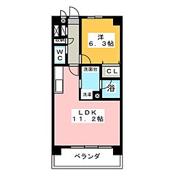 レージュ桜山[1階]の間取り