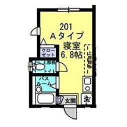 Well−B横濱反町I[0201号室]の間取り