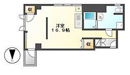 愛知県名古屋市中村区松重町の賃貸マンションの間取り