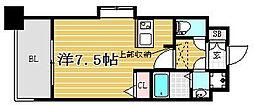 福岡県福岡市博多区豊1丁目の賃貸アパートの間取り