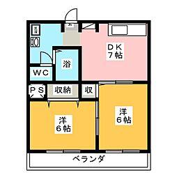 メロータウンIII[1階]の間取り
