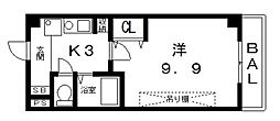 桜ヶ丘晴楽館[1505号室号室]の間取り