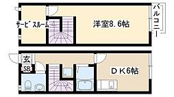 [テラスハウス] 愛知県名古屋市緑区姥子山4丁目 の賃貸【/】の間取り