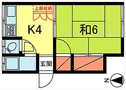 福寿荘[102号室]の間取り