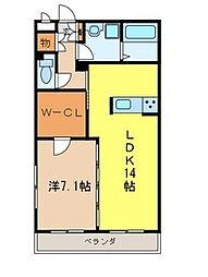 サクシード[3階]の間取り