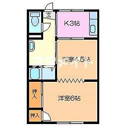 第二伊勢中川ハイツ[2階]の間取り