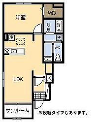 フラン・アンジュ Ⅱ[1階]の間取り