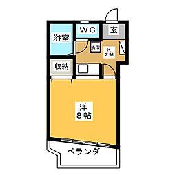 マンションビクトリー[8階]の間取り