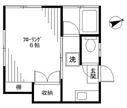 朗月荘[2階]の間取り