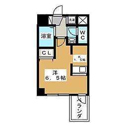 プレサンス京都三条大橋東山苑[5階]の間取り