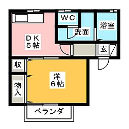 ファンテール[1階]の間取り