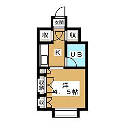 シャトード ボニータ[4階]の間取り