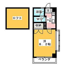 アメニティ東亜[5階]の間取り