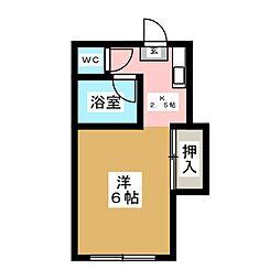 ホワイトキャッスル6番館[2階]の間取り