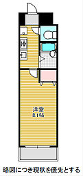 愛知県名古屋市昭和区川名本町3丁目の賃貸マンションの間取り
