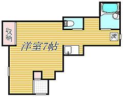 東京都世田谷区岡本3丁目の賃貸アパートの間取り