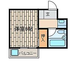 フォンテーヌ21[101号室]の間取り