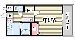 クレアドル須磨II[9階]の間取り