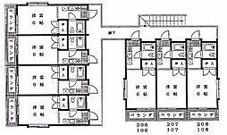 第3泉ハイツ[105号室]の間取り