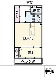 メゾンミズタ[4階]の間取り
