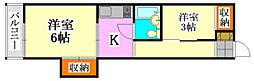 津田沼フラワーホーム[208号室]の間取り