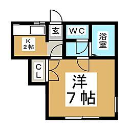宮城県仙台市泉区八乙女中央3丁目の賃貸アパートの間取り
