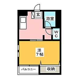 アバンセ箱崎[2階]の間取り
